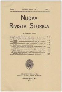 Anno I - Fascicolo I - Gennaio-Marzo 1917