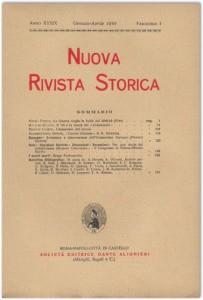 Anno XXXIX - Fascicolo I - Gennaio-Aprile 1955