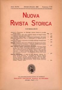 Anno XLVII - Fascicolo V-VI - Settembre-Dicembre 1963