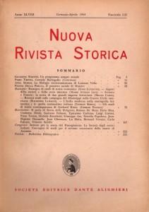 Anno XLVIII - Fascicolo I-II - Gennaio-Aprile 1964