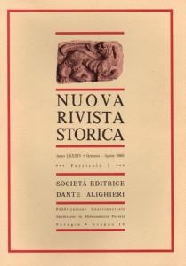Anno LXXXIV - Fascicolo I - Gennaio-Aprile 2000